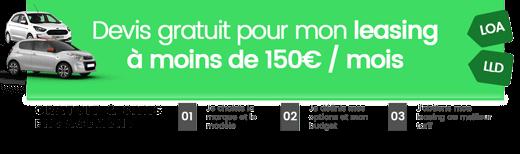 Simulation leasing moins de 150 euros par mois