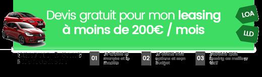 Simuler un leasing à moins de 200 euros par mois